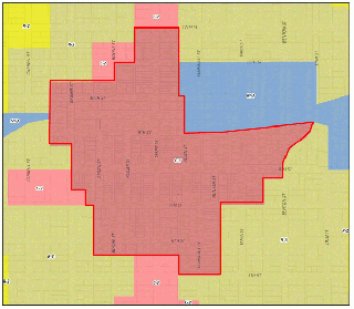 Figure 1 - From Boone Zoning Ordinance Map
