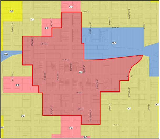 Boone Zoning Ordinance Map